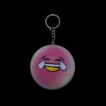 พวงกุญแจ สกุชชี่ยิ้ม(สีชมพู) 12อัน