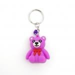 พวงกุญแจยาง หมีสีม่วง 12อัน