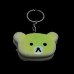 พวงกุญแจ สกุชชี่หัวคุมะ(สีเขียว) 12อัน