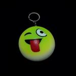 พวงกุญแจ สกุชชี่แลบลิ้น(สีเขียว) 12อัน