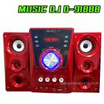 D-918BB BLUETOOTH RED Speaker MUSIC D.J. USB/SD/FM