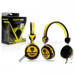 NO-040 สีเหลือง NUBWO HEADPHONE+MIC