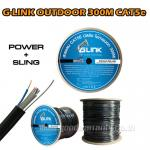 CAT5E POWER+SLING OUTDOOR GLINK 300m UTP CABLE