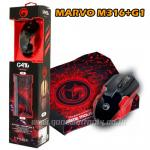 MOUSE +MOUSEPAD MARVO BLACK M416+G1