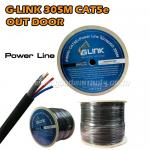 CAT5E WITH POWER OUTDOOR GLINK 305m UTP CABLE