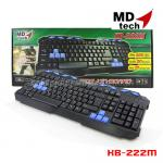 KB-222M MD-TECH KEYBOARD USB (BLACK/BLUE)