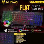NK-14 FLAT NUBWO KEYBOARD USB