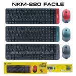 NKM-220 FACILE NUBWO KEYBOARD+MOUSE