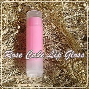 ROSE CAKE LIP GLOSS สีชมพูอ่อน กลิ่นกุหลาบ