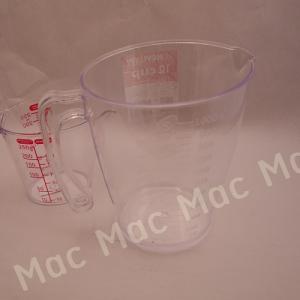 ถ้วยตวงพลาสติกใส ขนาด 1000 มิลลิลิตร(ห้ามใช้ตวงสารเคมี)