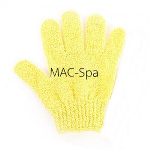 ถุงมืออาบน้ำขัดตัว 1 ข้าง สีเหลืองอ่อน