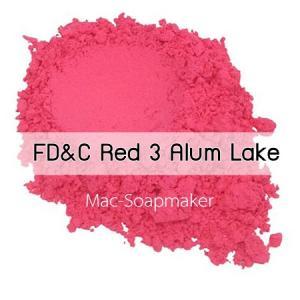 สีชมพู /ละลายในน้ำมัน /Lake Erythrosine/ FD&C red 3 Alum Lake (ชนิดผง)