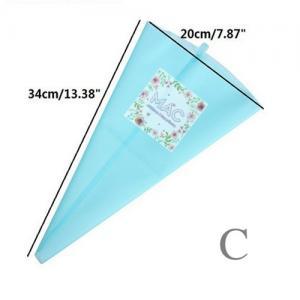 SILICONE CREAM PIPING BAG ถุงซิลิโคนบีบครีมสบู่ size C 40 ซม.