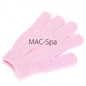 ถุงมืออาบน้ำขัดตัว 1 ข้าง สีชมพูอ่อน