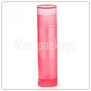 RED LIPSTICK TUBE หลอดลิปสติกใสสีแดง 5 มล.มีฝาปิด