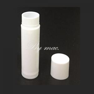 WHITE LIPSTICK TUBE หลอดลิปสติกขาว 5 มล.มีฝาปิด