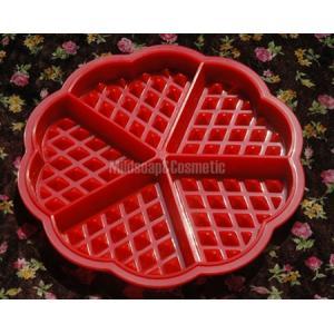 พิมพ์สบู่ซิลิโคน heart waffle / 40 กรัม / 5 หลุม