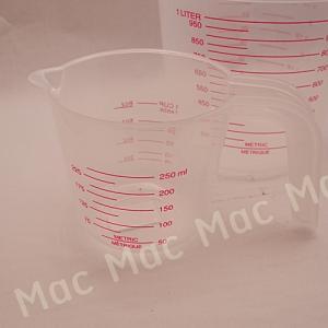 ถ้วยตวงพลาสติกขุ่นขนาด 250 มิลลิลิตร
