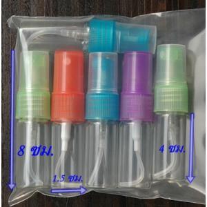 ขวดแก้วบรรจุน้ำหอม คละสี/ ขนาด 10 ซีซี , 6ใบ (ทรงเตี้ย)
