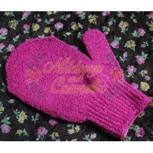 ถุงมือขัดตัวอาบน้ำแบบ Baby Gloves 1 ข้าง สีชมพูเข้ม
