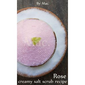 ROSE COCO SALT SCRUB SET ชุดครีมมะพร้าวเกลือขัดผิวผสมโรส วอเตอร์ /สีชมพู /กลิ่นเชอรี่โรส 1400 กรัม / พร้อมเอกสารประกอบ