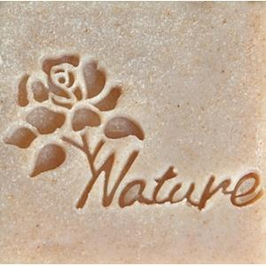 NATURE ROSY SOAP STAMP 4 x 5 CM.
