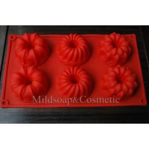 พิมพ์สบู่ซิลิโคน เยลลี่เค้ก / 7.5 x 3.5 ชม./100-110 กรัม/6 ก้อน