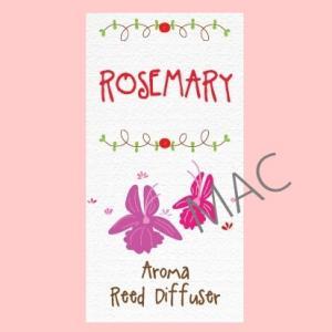ROSEMARY REED NOTE/สีส้มแดง/Floral Powerful note/lใช้ปรับอากาศให้หอมสดชื่น มีชีวิต ชีวา