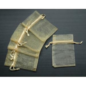 ถุงผ้าไหมสีทอง 6X10 ซม. 12 ใบ