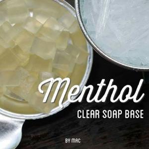 MENTHOL CLEAR SOAP BASE เบสสบู่ใสเมนทอล/ SLS free