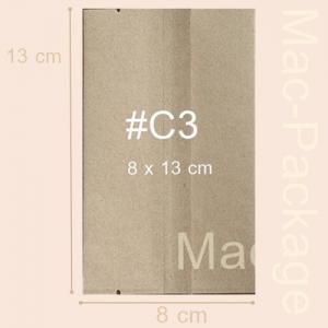 ซองใส่สบู่คร๊าฟ ซีลกลาง #3 ขนาด 8 x 13.0 cm