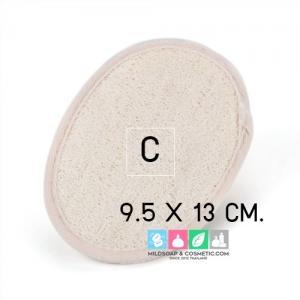 แผ่นใยบวบ ขัดนวดตัว size C 9.5 X 13 ซม