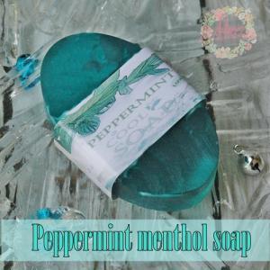 ชุดสบู่เย็น PEPPERMINT MENTHOL SOAP 1000 กรัม
