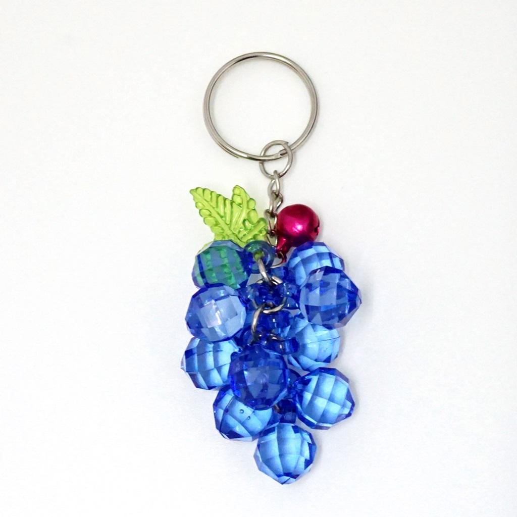 พวงกุญแจคริสตัล สีน้ำเงิน 12อัน