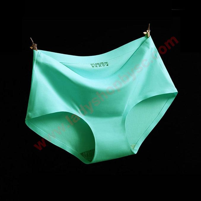 กางเกงในไร้ขอบ สีเขียวน้ำทะเล
