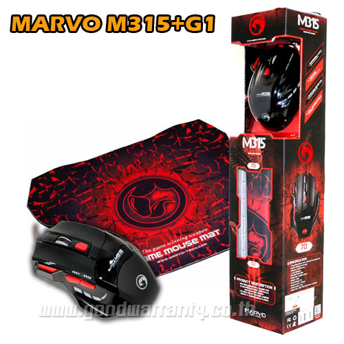 MOUSE MARVO M35+G1 MOUSEPAD