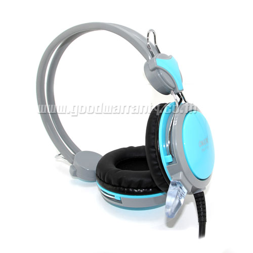SM-712 OKER HEADPHONE+MIC Blue