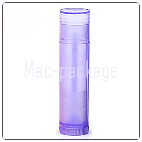 PURPLE LIPSTICK TUBE หลอดลิปสติกใสสีม่วง 5 มล.มีฝาปิด