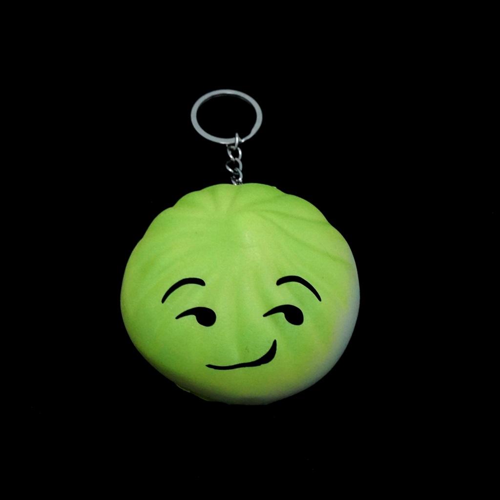 พวงกุญแจ สกุชชี่ซาลาเปา(สีเขียว) 12อัน