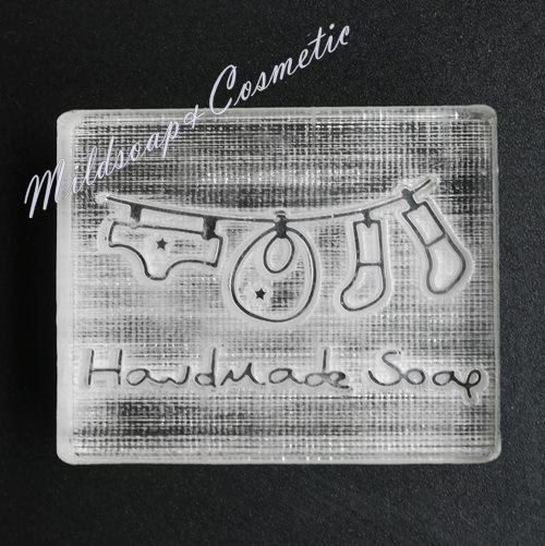 HANDMADE LAUNDRY SOAP STAMP 4 x 4 CM.