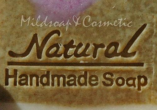 NATURAL HANDMADE SOAP STAMP 3 X 4.8 CM.