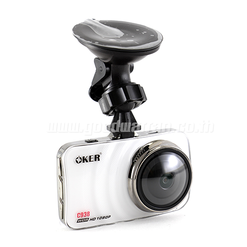 OKER C938 CAR CAMCORDER 1080P สีขาว