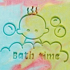 BABY BATH TIME SOAP STAMP 3.5 X 4.5 CM.