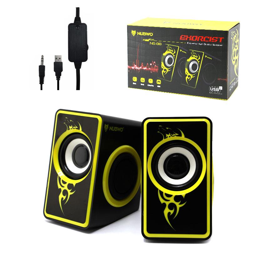 NS-98 NUBWO Speaker USB EXORCIST สีเหลือง