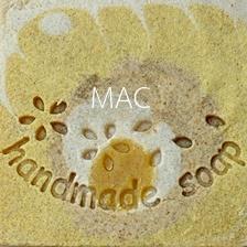 HANDMADE FLOWER SOAP STAMP 3.5 X 5.3 CM.