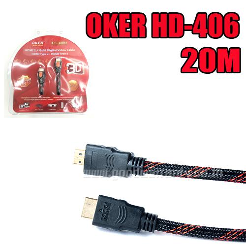 HD-406 OKER Cable HDMI/HDMI 20m.