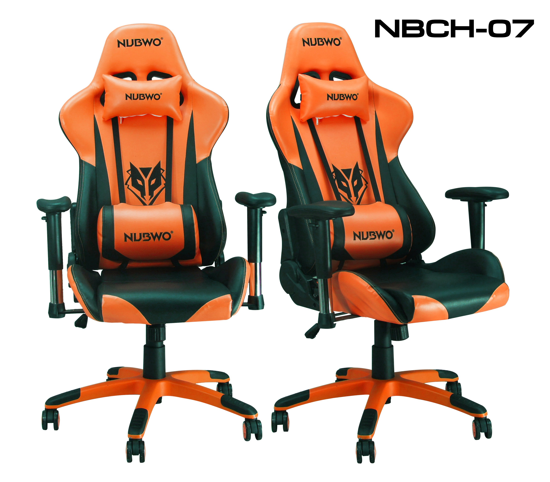 เก้าอี้ เกมมิ่งNUBWO ERGONOMIC GAMING CHAIR รุ่น CH-007 สีส้มดำ