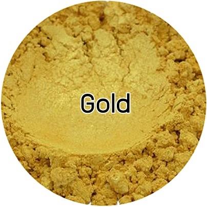 Gold mica pearlescent pigment/ สีทองประกายมุก / สีไมก้า