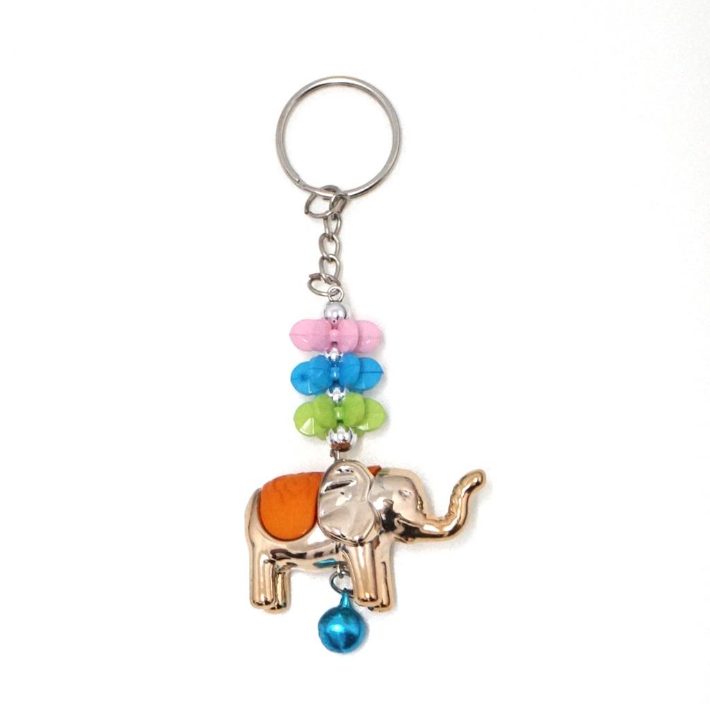 พวงกุญแจช้าง สีส้ม(พลาสติก)