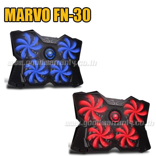 FN-30 BLUE MARVO 4xBig FAN NOTEBOOK ไฟ